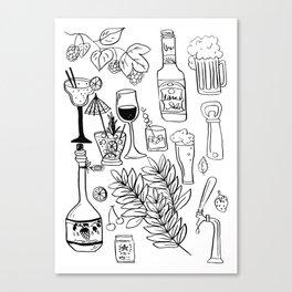 Alcohol Doodles Canvas Print