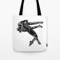 fight Tote Bags featuring FIGHT by Tanya Pligina