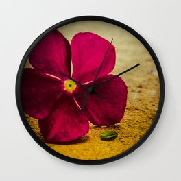 i send you a flower Wall Clock