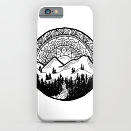 Mountain Mandala iPhone Case