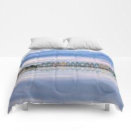 Rainbow houses in Netherlands Comforters
