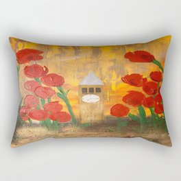 150 Years of CU - An Alumni Anniversary Tribute with Red Tulip Flowers Rectangular Pillow