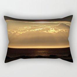 Bronze Seascape Sun rays Rectangular Pillow