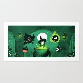 Ghost Pokes Art Print