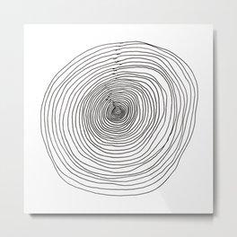 Concentric Circles Metal Print