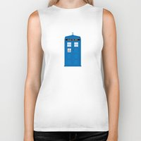 doctor who Biker Tanks featuring DOCTOR WHO. by John Medbury (LAZY J Studios)