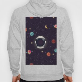 Universe with planets, stars and astronaut helmet seamless pattern 003 Hoody