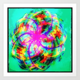 Braid colors - rotation colorful Art Print