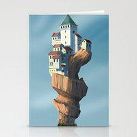 uncharted Stationery Cards featuring Auger City by cgoz