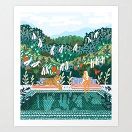 Chilling || #illustration #painting Art Print
