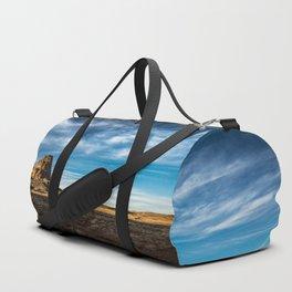 Somewhere In Time - Western Scenery of Agaltha Peak in Northern Arizona Duffle Bag