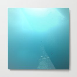 Swimming up to the surface Metal Print