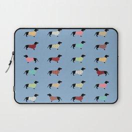 Dachshund - Blue Sweaters #708 Laptop Sleeve