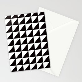 Geo Triangles in Black + White Stationery Cards