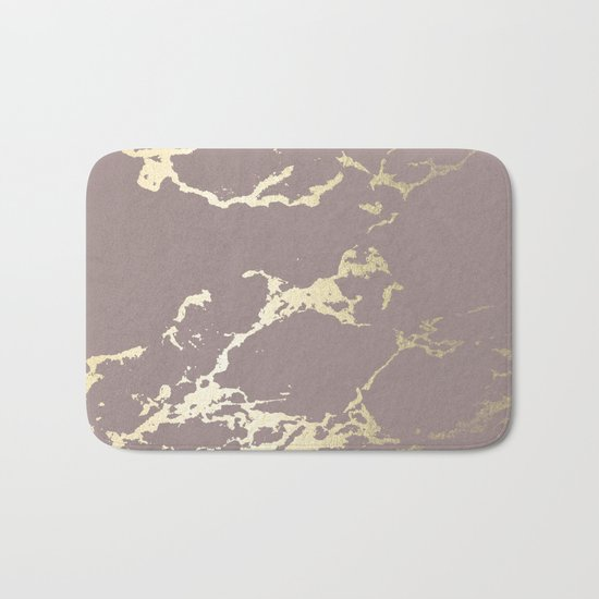 Kintsugi Ceramic Gold on Red Earth Bath Mat