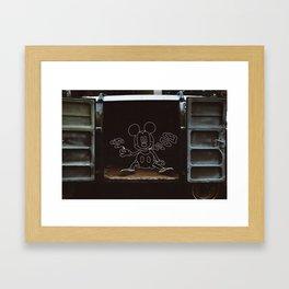 Micky Mouse Smoking Framed Art Print