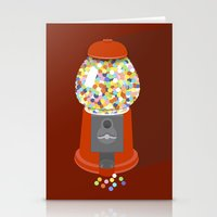 gumball Stationery Cards featuring Gumball Machine by Haley Jo Phoenix