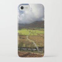 cassia beck iPhone & iPod Cases featuring Clouds over Beckstones Farm and Goldrill Beck. Patterdale, Lake District, UK by liamgrantfoto