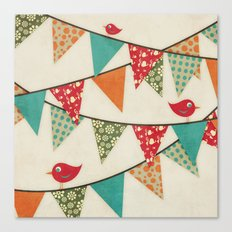Home Birds 'N' Bunting. Canvas Print