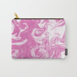 Toru - spilled ink abstract watercolor painting splash ocean sea girly trendy marbled paper marbling Carry-All Pouch