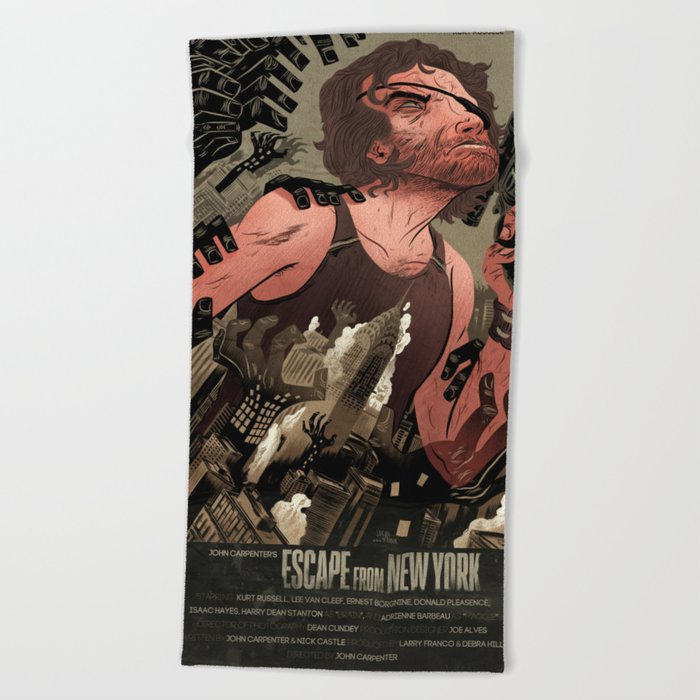 Escape From New York Poster.Escape From New York Poster Beach Towel By Aerodynamicmountains