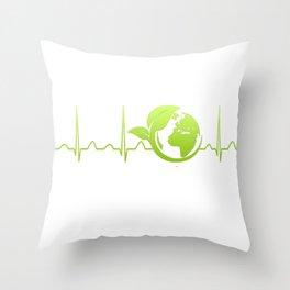 Ecologist Heartbeat Throw Pillow