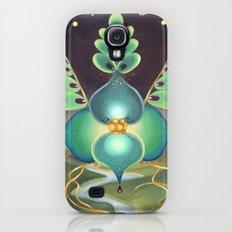 Green Flower Slim Case Galaxy S4