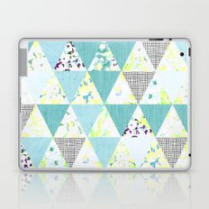 PASTEL NEON GEO FLORALS IN MINT Laptop & iPad Skin