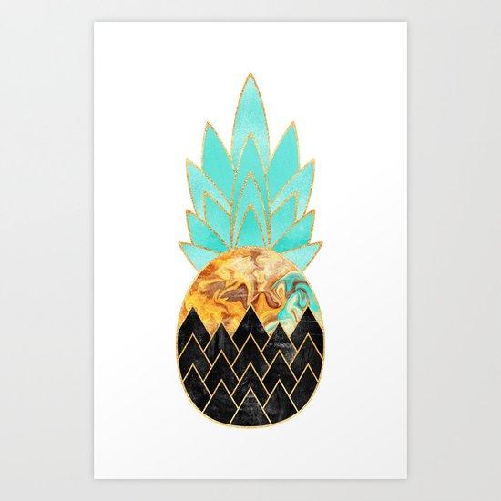 Precious Pineapple 3 Art Print
