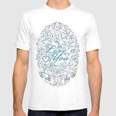 LOVE YOU MEDIUM Mens Fitted Tee White