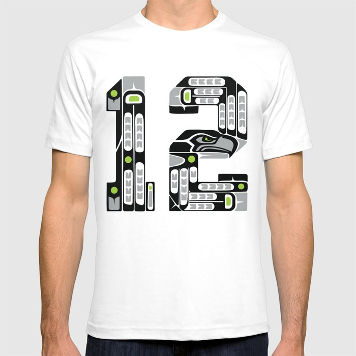 Seattle 12th Man - Black T-shirt