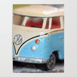 Vintage Minibus-Color Poster