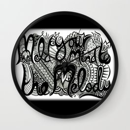 Meld your mind to the melody - ANALOG Zine submission Wall Clock