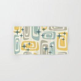 Mid Century Modern Cosmic Galaxies 559 Yellow Gray Blue and Teal Hand & Bath Towel