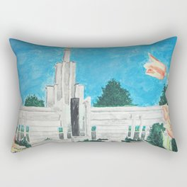The Hague Netherlands LDS Temple Rectangular Pillow