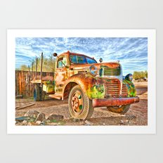 Old Trucks Never Die II Art Print