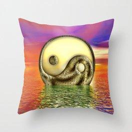 Ying Yang  Zeichen Throw Pillow