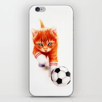 soccer iPhone & iPod Skins featuring Soccer Kitty by Isaiah K. Stephens