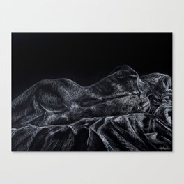 Nude Female Resting on Side Canvas Print