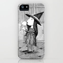 Little Witch Eating Ice Cream iPhone Case