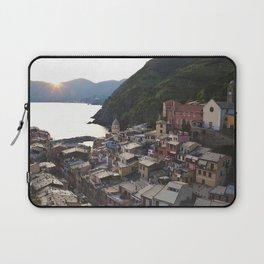 Sunset over Vernazza, Italy Laptop Sleeve