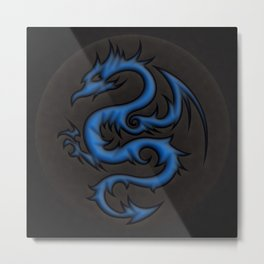 Blue Dragon Metal Print