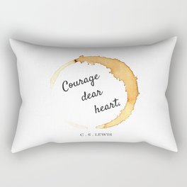 COURAGE DEAR HEART // C.S. LEWIS  Rectangular Pillow