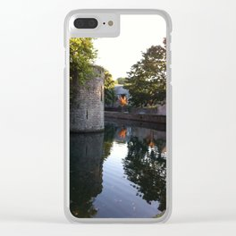 Autumn's Flame Clear iPhone Case
