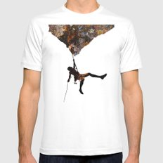 Rock Climbing  MEDIUM White Mens Fitted Tee