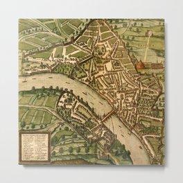 Map Of Basel 1575 Metal Print