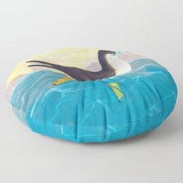 Dusky Petrel John James Audubon Scientific Illustration Birds Of America Drawings Floor Pillow