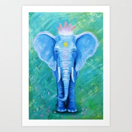 Mrs. Elephant Art Print