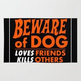 Beware of Dog Rug