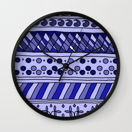 Yzor pattern 002 blue Wall Clock